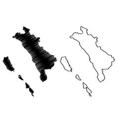 west sumatra map vector image