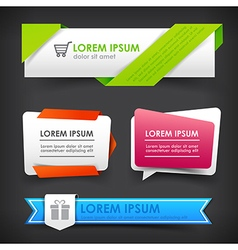 Collection of colorful web tag banner promotion vector image vector image