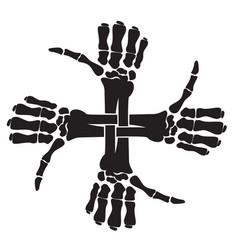 crossbones x9 vector image vector image