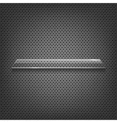 Glass Shelf On Abstract Metal Background vector image vector image