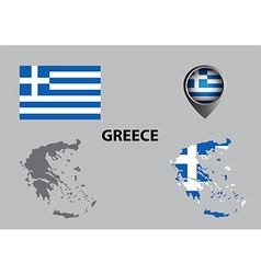 Map of Greece and symbol vector image