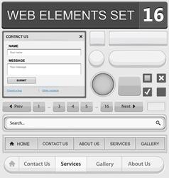 web elements set 16 vector image vector image