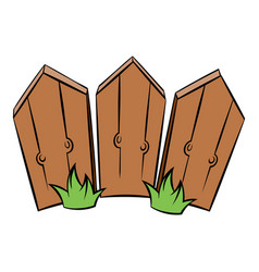 wooden fence icon cartoon vector image