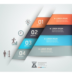 Business step infographics elements vector