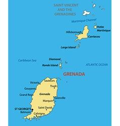 Grenada - map vector image