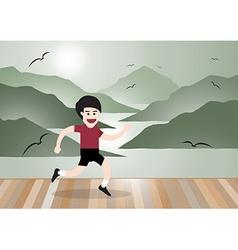 healthy running man vector image