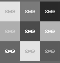 link sign grayscale version vector image vector image
