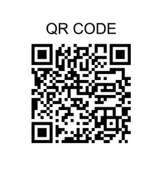 qr code sample icon isolated on white background vector image vector image