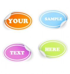 badges and stickers vector image vector image