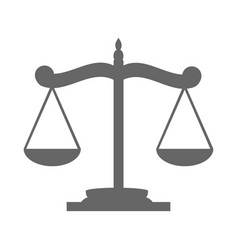 balance on the scale vector image