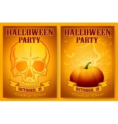 Halloween party backgrounds set vector