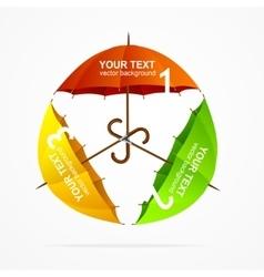 Umbrellas Infographics vector image vector image