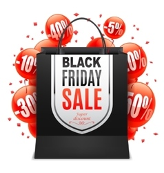 Black Friday Sale Bag vector image vector image