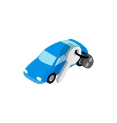 Car evacuated icon isometric 3d style vector image vector image