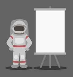 cosmonaut isolated vector image