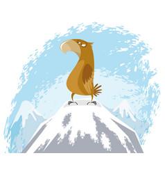 eagle on peak vector image vector image