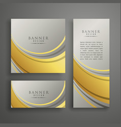 elegant abstract premium card or banner design in vector image vector image