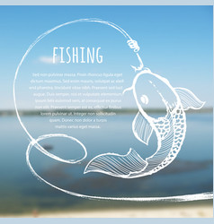 fishing blurred photo background vector image vector image