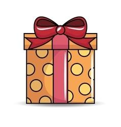Gift birthday present icon vector