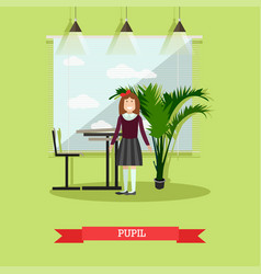 pupil concept in flat style vector image vector image