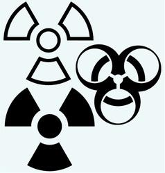 Radioactive and biohazard icon vector image vector image
