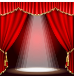 stage with red curtain clipping mask mesh vector image vector image
