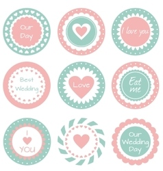 Tags for wedding vector image vector image
