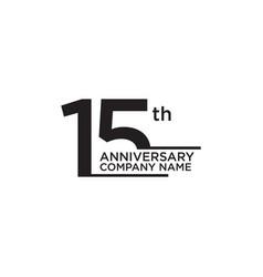 15th year anniversary icon logo design template vector
