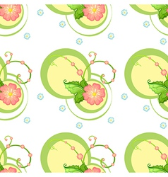 A flowery design vector image