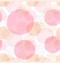 Abstract geometric seamless pattern with pink vector