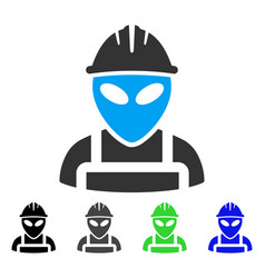 Alien worker flat icon vector
