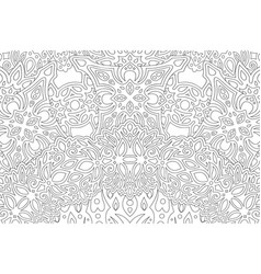 Art for adult coloring book with linear pattern vector