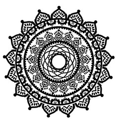 asian culture and henna tattoo inspired mandala 2 vector image