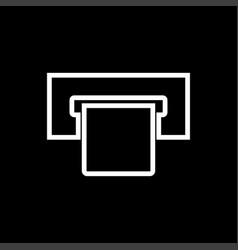 Atm card slot white color icon vector