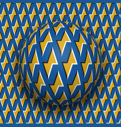 Ball with a golden lightnings blue pattern rolls vector