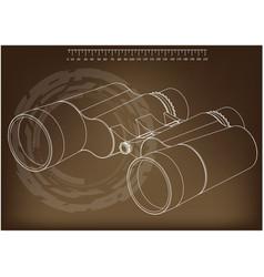 binoculars on a brown vector image