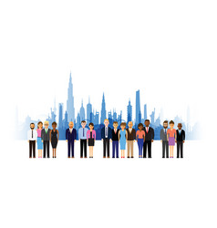 Business people cityscape background vector