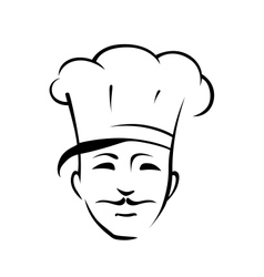 Chef with a moustache and toque vector