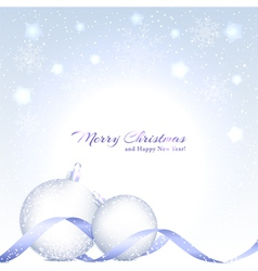Christmas Background with Sparkling Crystal Ball vector image