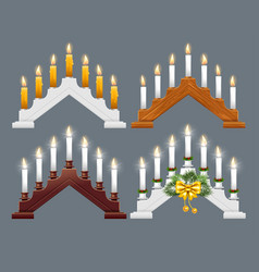 christmas candle bridge vector image