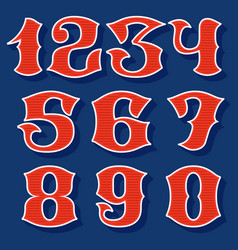 Classic style sport numbers set vector