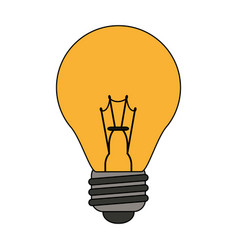 color graphic light bulb on icon vector image