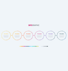 colorful diagram infographic template vector image