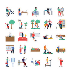 daily life flat pack vector image