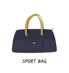 Dark blue sport bag isolated vector