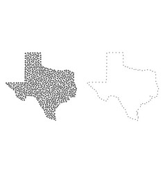 Dotted contour map of texas state vector
