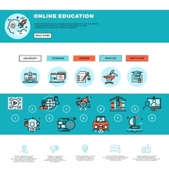 E-learning education or training courses web vector