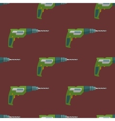 electric drill seamless pattern vector image