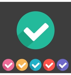 Flat game graphics icon tick vector