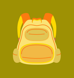 Flat icon on stylish background fashionable bag vector